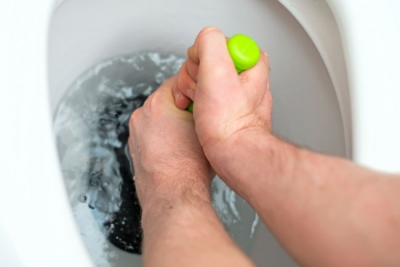 Plunging is one method of drain cleaning.