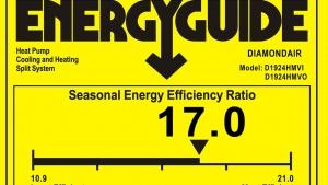 Energy Guide sticker in Louisville, KY.