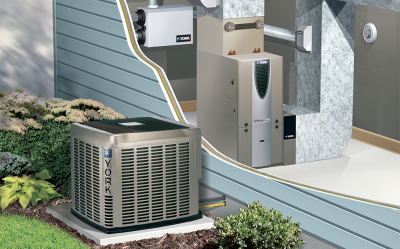 A split HVAC system is common to find in the Louisville, KY area.