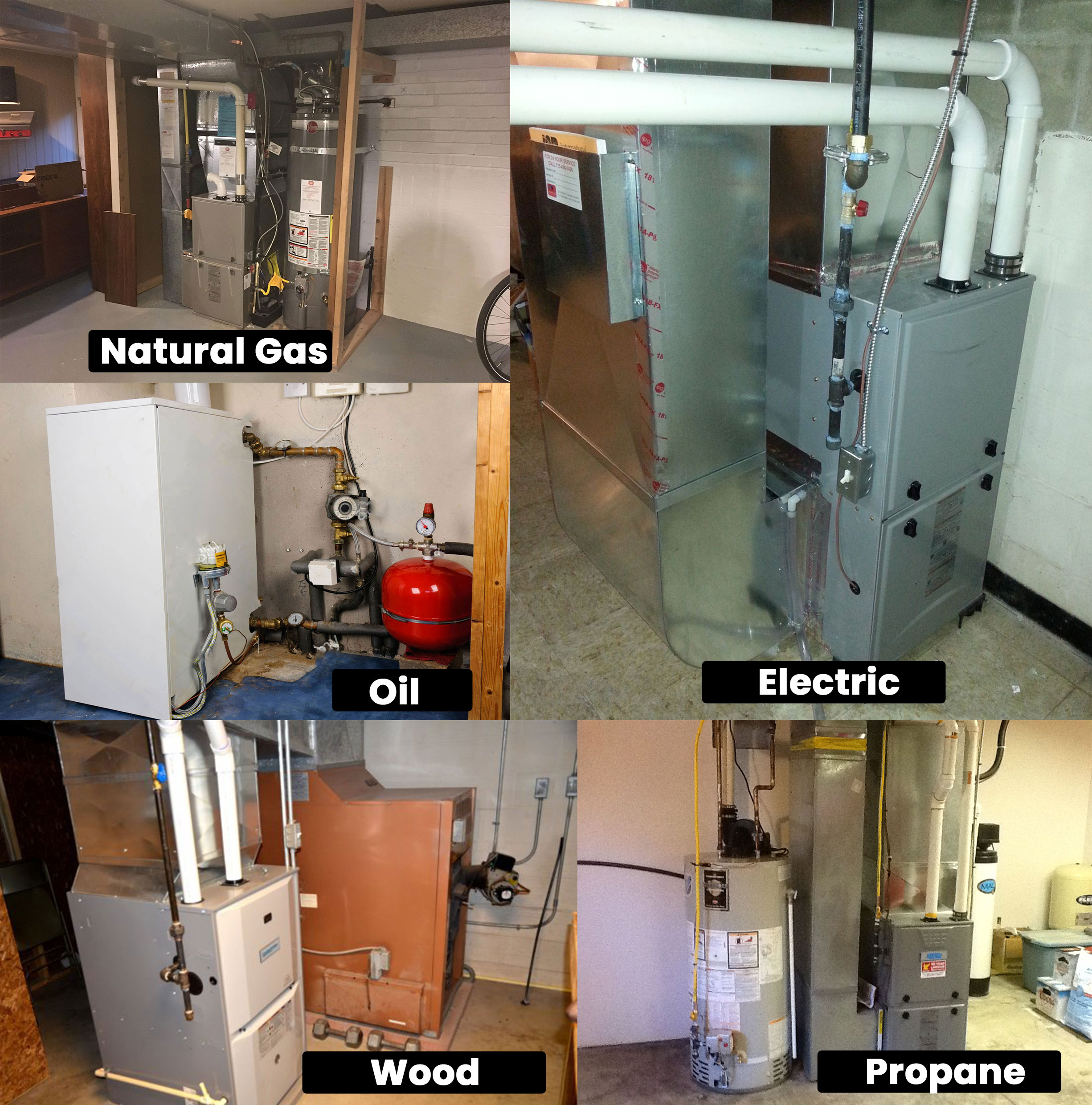 Types of heating systems for residential homes.